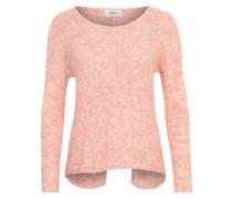 Strickpullover 'Onlestelle' aus Bändchengarn pink