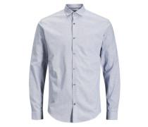 Kentkragen-Langarmhemd grau