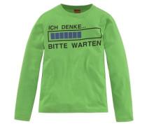 """Langarmshirt """"ich Denke...bitte Warten"""" für Jungen neongrün"""