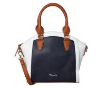 Handtasche 'Sharon Boston' navy / braun / weiß