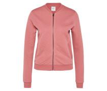 Bomber-Sweatshirtjacke rosa