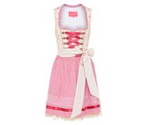 Dirndl in besonders femininem Design pink