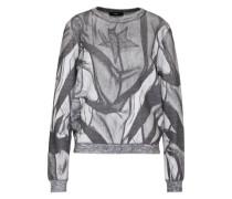 Sweatshirt 'F-Radi' grau / weiß