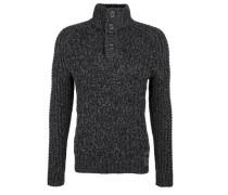 Pullover mit Strickmuster schwarzmeliert