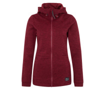 Sweatjacke 'PW Hoody Fleece' rot