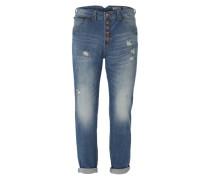 Jeans im Boyfriend-Look 'Special Yoke' blau