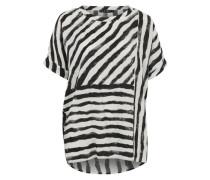 Leichte Bluse schwarz / weiß