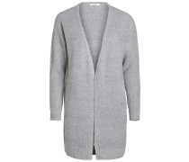 Gauge-Strick-Cardigan grau