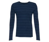 Langarmshirt in Streifen-Optik blau