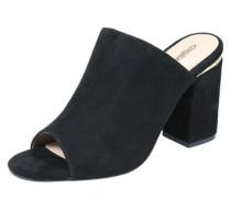 Leder-Sandalette schwarz