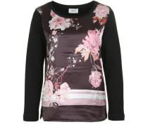 Pullover mit Satin-Vorderseite mischfarben / rosa / schwarz