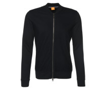 Sweatjacke mit Inside-Out-Optik 'Ztripe' schwarz