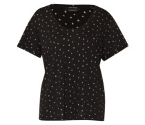 T-Shirt mit Sternenprint schwarz