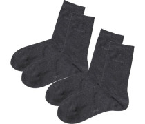 2er Packung Socken grau