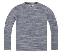 Pullover 'thdm Space DYE CN Sweater L/S 33B' dunkelblau / blaumeliert