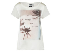 T-Shirt 'less Monday' puder / naturweiß
