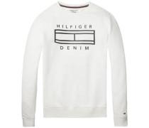Sweatshirt 'thdm Outline CN Hknit L/S 27' weiß
