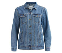 Lange Jeansjacke 'objjezabell' blue denim