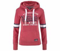 Sweatshirt 'varsity Team' navy / melone / weiß