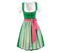 Dirndl in modischen Farben (3tlg.) grün / weiß