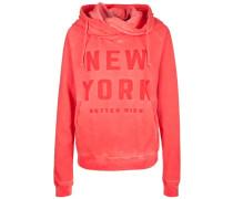 Kapuzensweatshirt Hoody NEW York rot