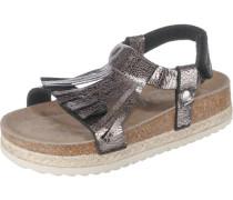 Kinder Sandalen WMS-Weite M4 silber