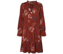 Kleid mischfarben / rostrot