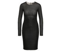 Kleid in Lederoptik schwarz