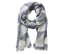 Schal blau-weiß mit grafischem Muster blau / naturweiß