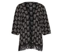 Kimono mit Fransen schwarz