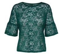 Spitzen Bluse mit 2/4 Ärmeln grün