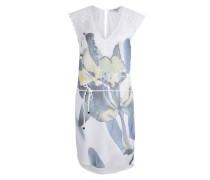 Kleid im Material-Mix weiß