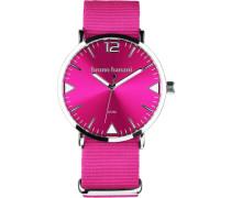 Quarzuhr pink