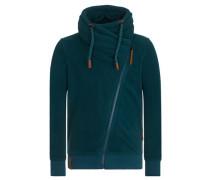 Male Zipped Jacket 'Gnadenlos durchgerattert' petrol