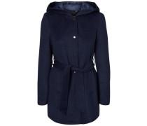 Woll Mantel blau