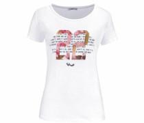 T-Shirt 'jadeno' rosa / weiß