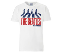 "T-Shirt ""The Beatles - Abbey Road"" weiß"