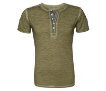 T-Shirt 'T Stadium button' grün