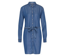 Hemd-Kleid mit Bindegürtel blue denim