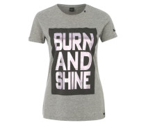 Printshirt 'Burn and Shine' grau