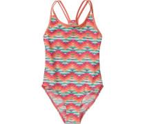 Kinder Badeanzug UV-Schutz 50+ pastellgrün / orangerot