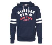 Sweatshirt mit Print dunkelblau