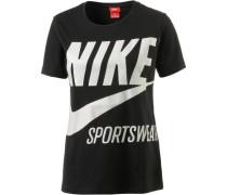 T-Shirt 'nsw TEE Brs' schwarz