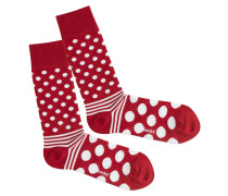 Socken 'Dot Stripe Fire'