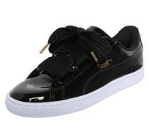 Sneaker 'Basket Heart Patent' schwarz