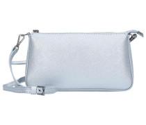 Adele Mini Bag Umhängetasche Leder 23 cm silber