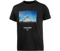 Kyle Printshirt blau / schwarz