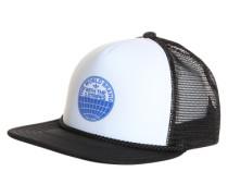 Trucker Cap weiß / schwarz / blau