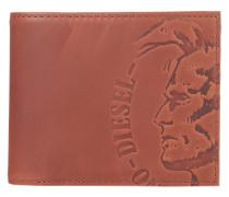 Geldbörse 'Hiresh S' aus Leder dunkelbraun