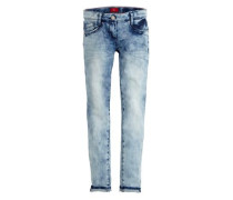 Skinny Suri: Moonwashed-Jeans blue denim